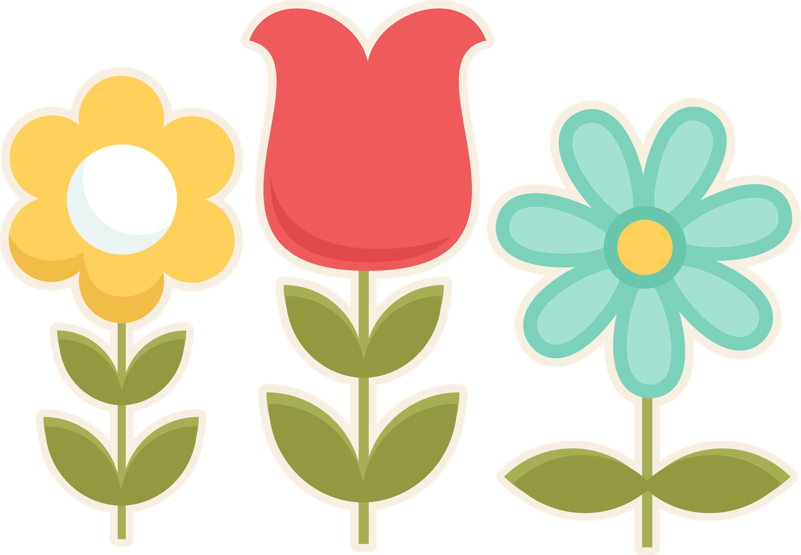 Spring flowers clip art. Telephone clipart off hook
