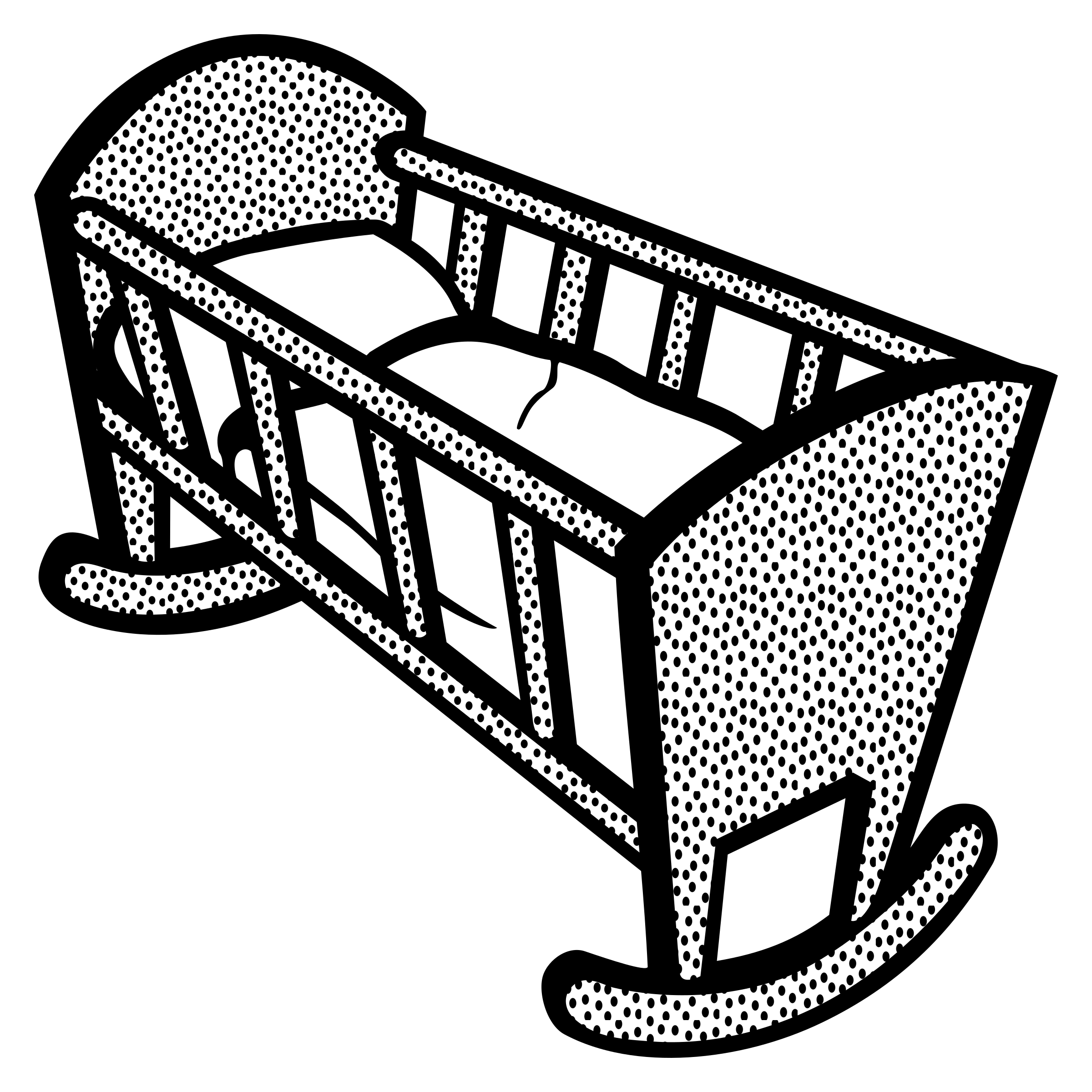Baby free crib pinterest. Nursery clipart cradle