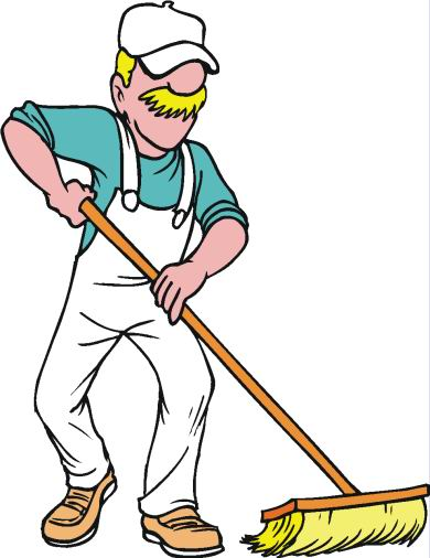 Housekeeping clipart cleanliness. Free janitor black and