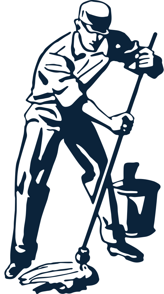 collection of janitor. Proud clipart black and white