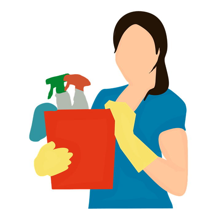 Qualities of a good. Clean clipart domestic helper