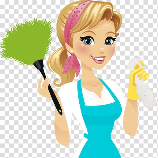 Maid clipart housekeeper. Woman holding bottle illustration