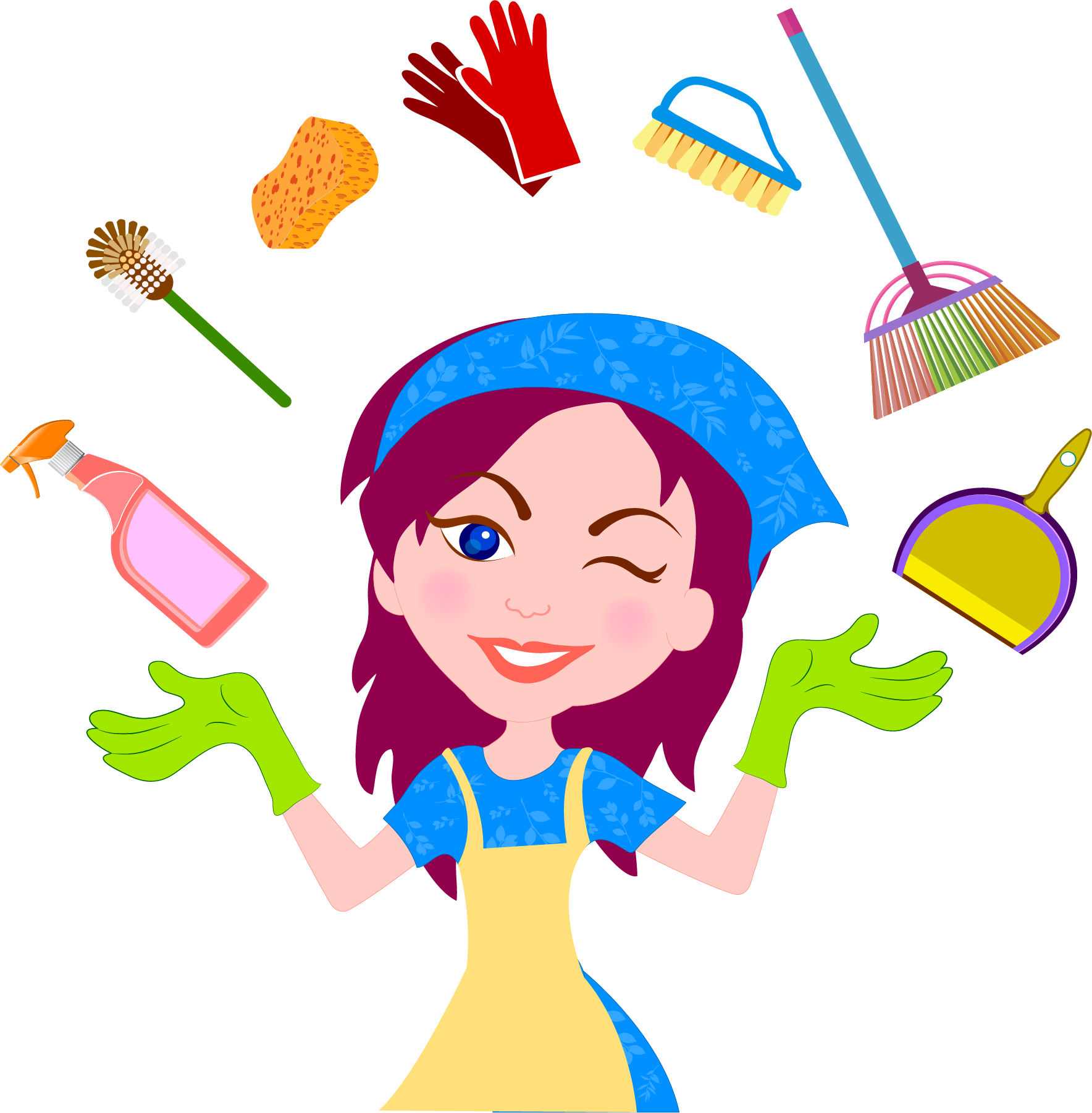 Maid clipart clean. Cleaner service cleaning housekeeping