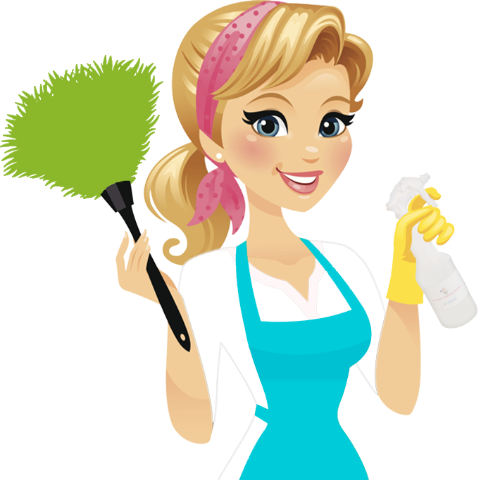 Cleaning lady pics group. Maid clipart dusting brush