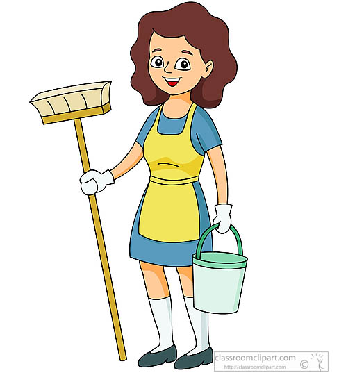 Cleaning lady free download. Housekeeping clipart cleanliness