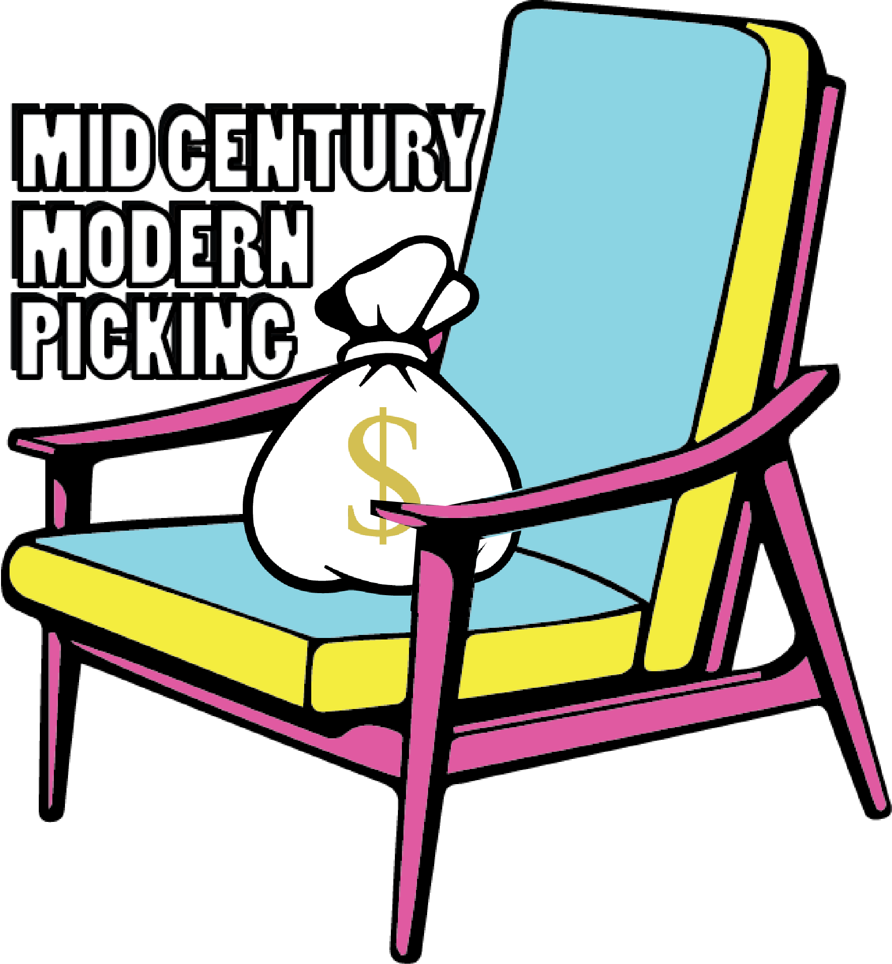 Furniture clipart furniture removal. Mid century modern how