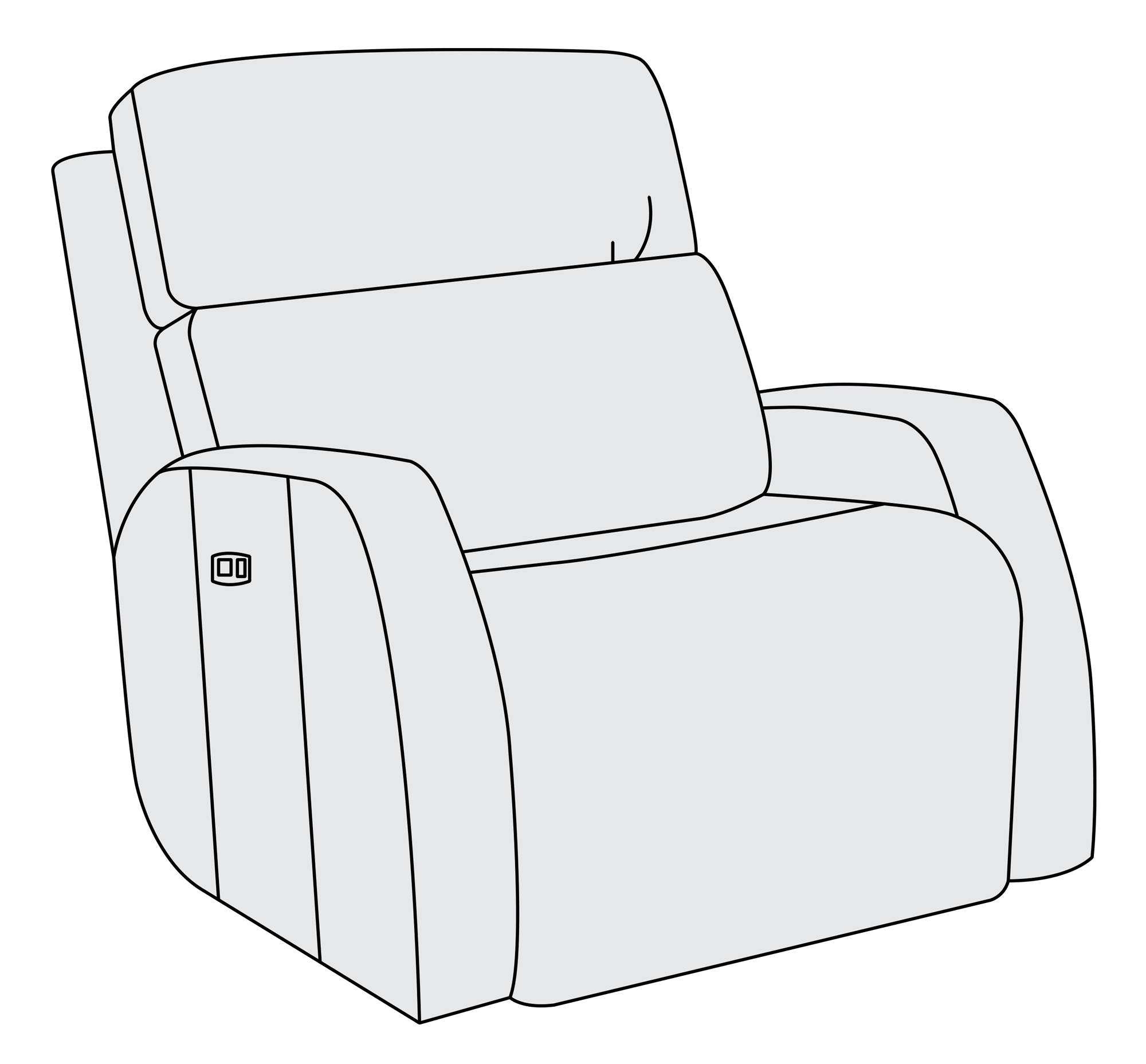 Power motion bernhardt . Furniture clipart recliner chair