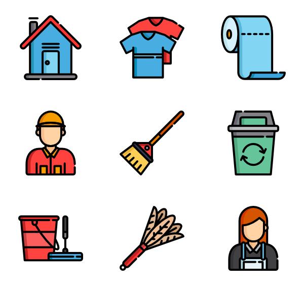 clean house icon. Housekeeping clipart thank you