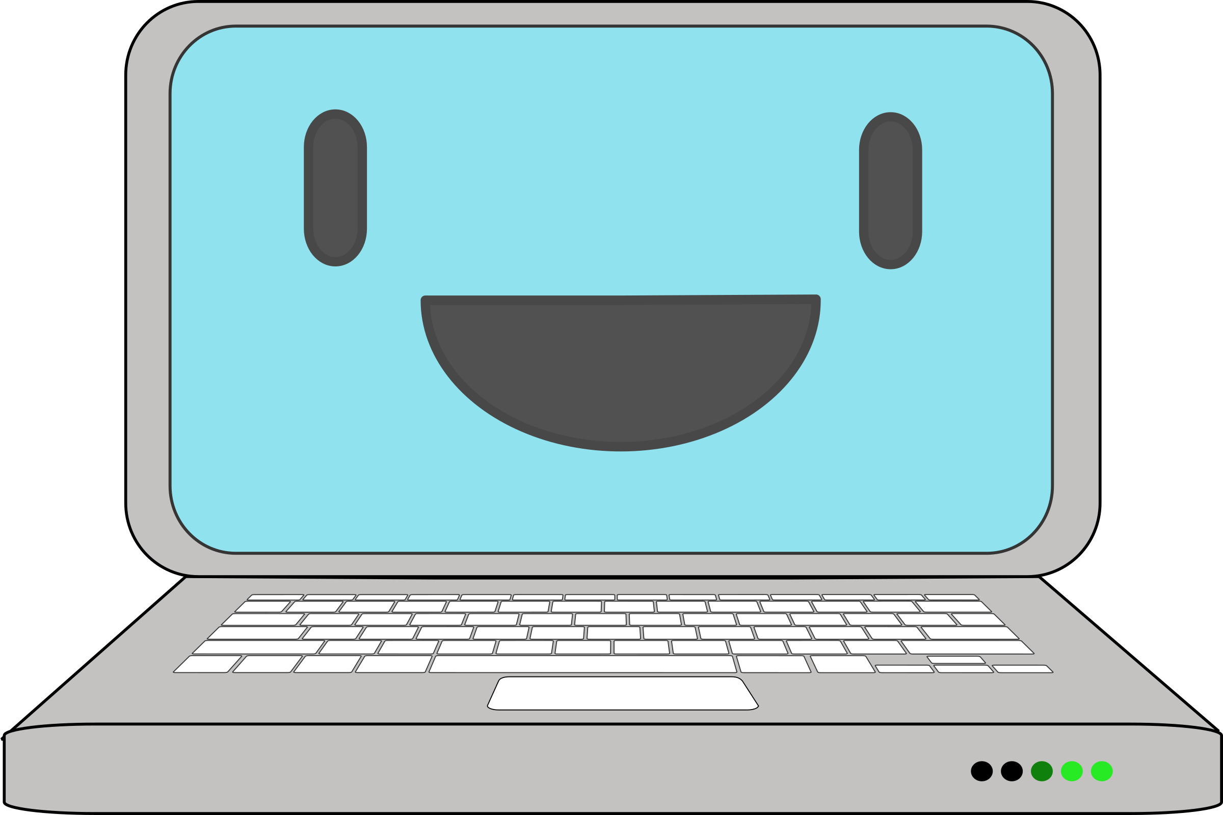 Computer happy pencil and. Notebook clipart clip art