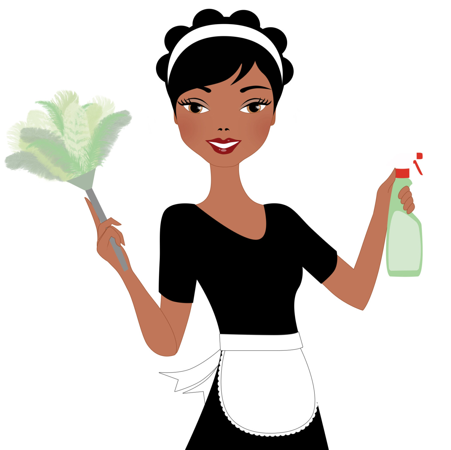 Maid clipart cleaning lady. Free black housekeeper cliparts