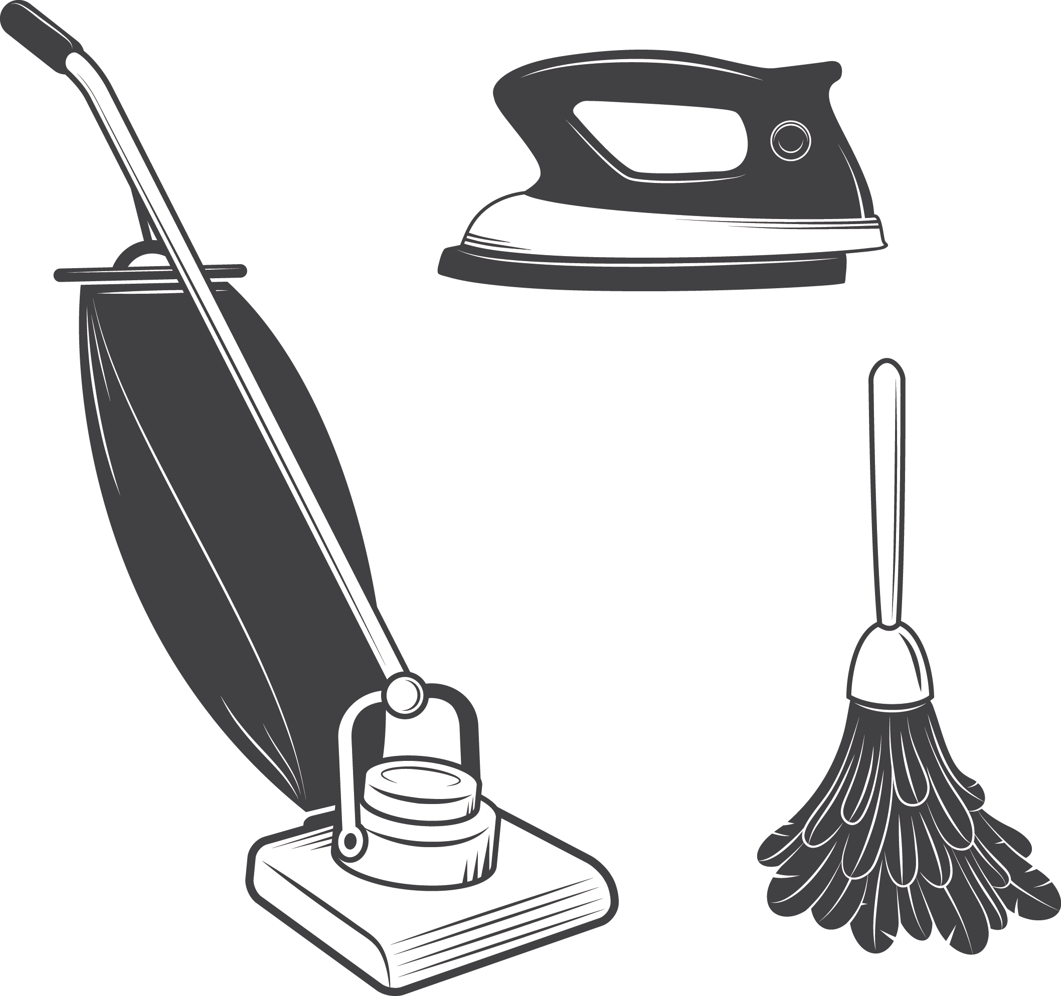 Vacuum cleaner cleaning mop. Clean clipart housekeeping supply