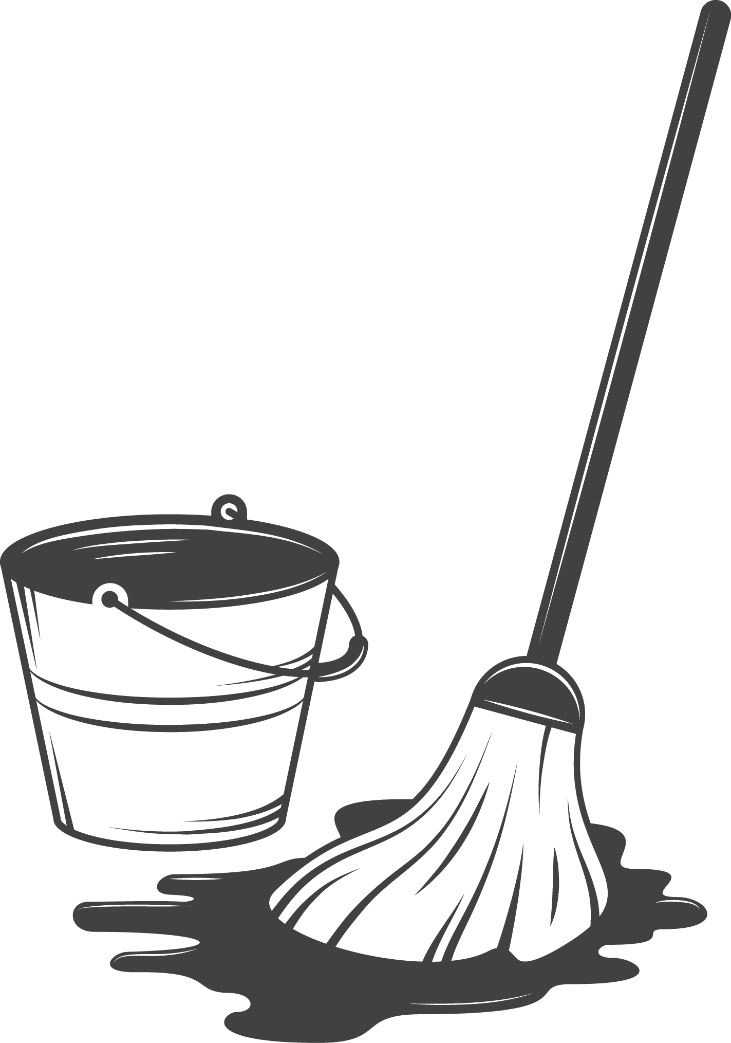 Clean clipart housekeeping tool. Cleaning illustration mop and