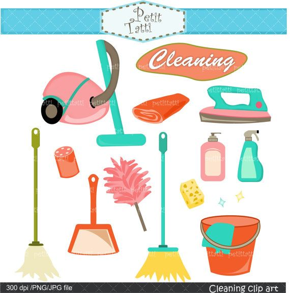 Clean clipart housekeeping tool. Cleaning tools clip art