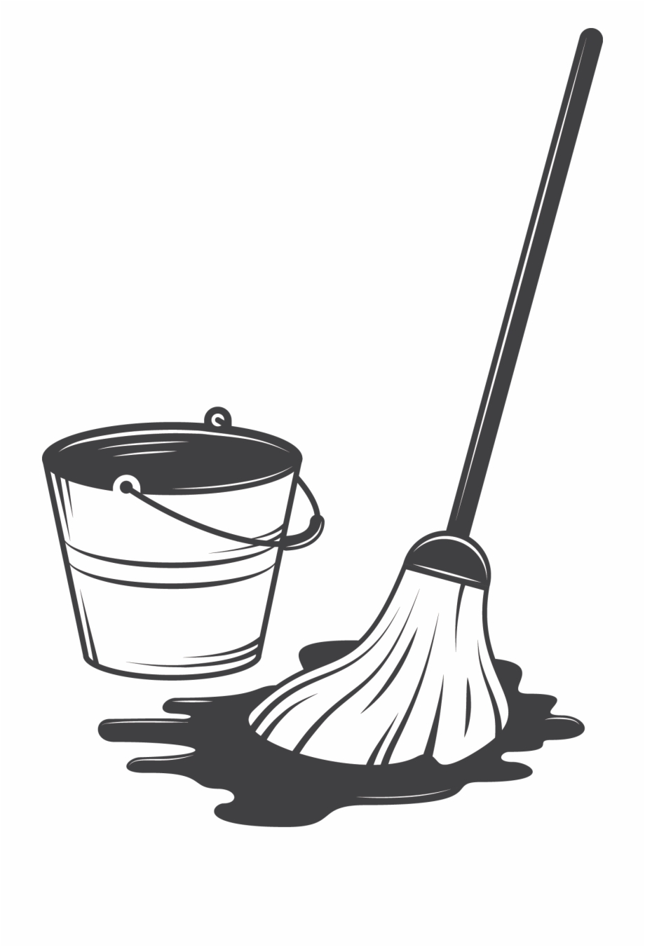 Cleaning illustration service drawing. Clean clipart housekeeping tool