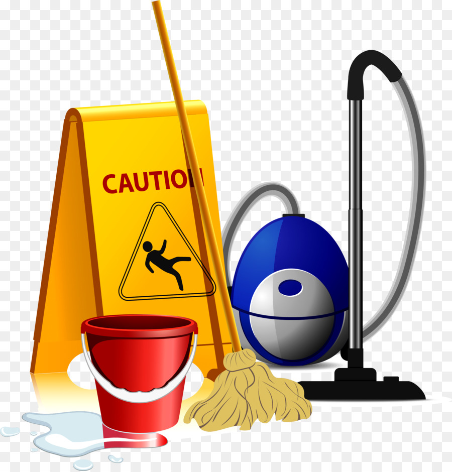 Yellow background cleaning mop. Clean clipart housekeeping tool