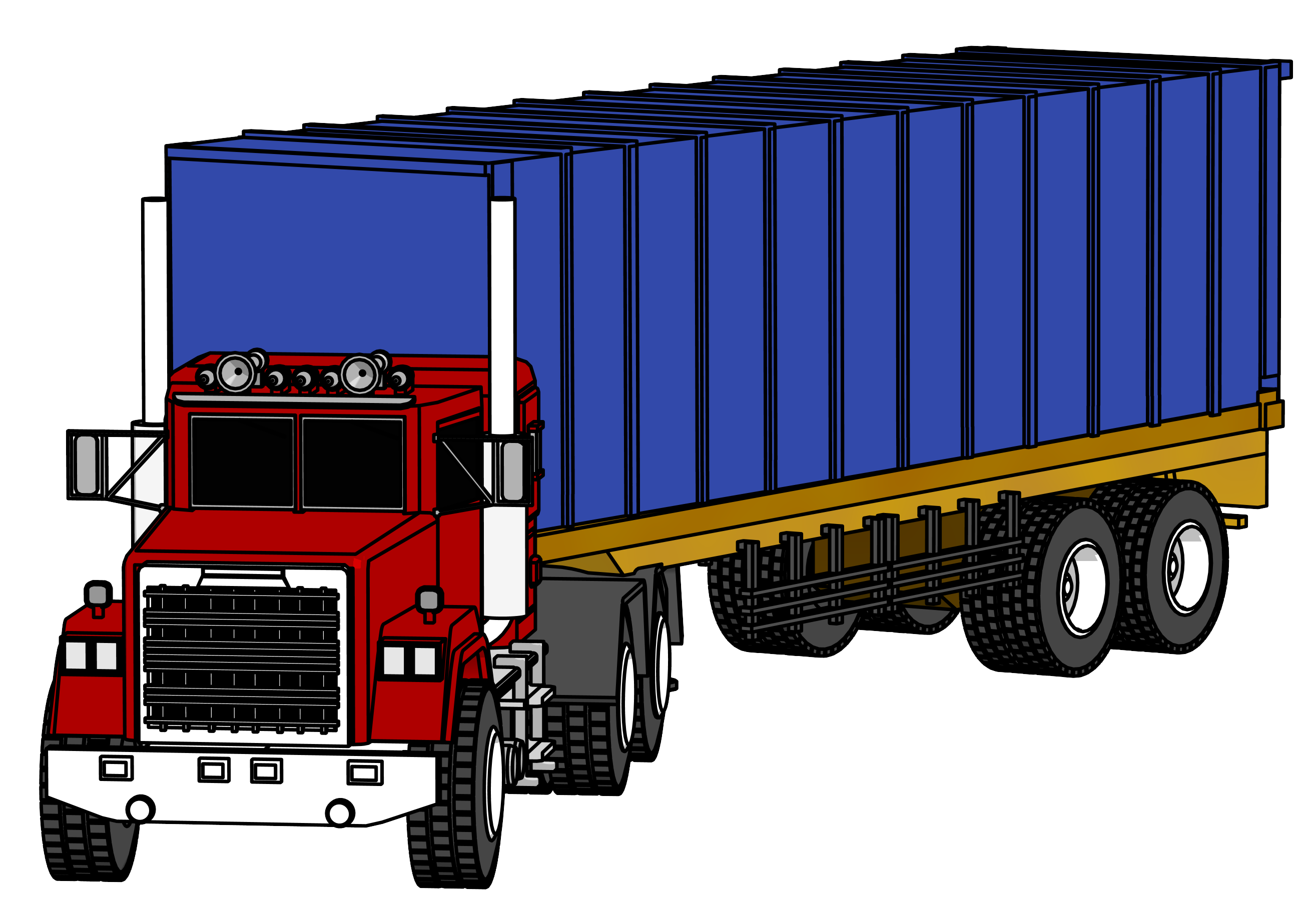 Clean clipart industrial. Truck big png image