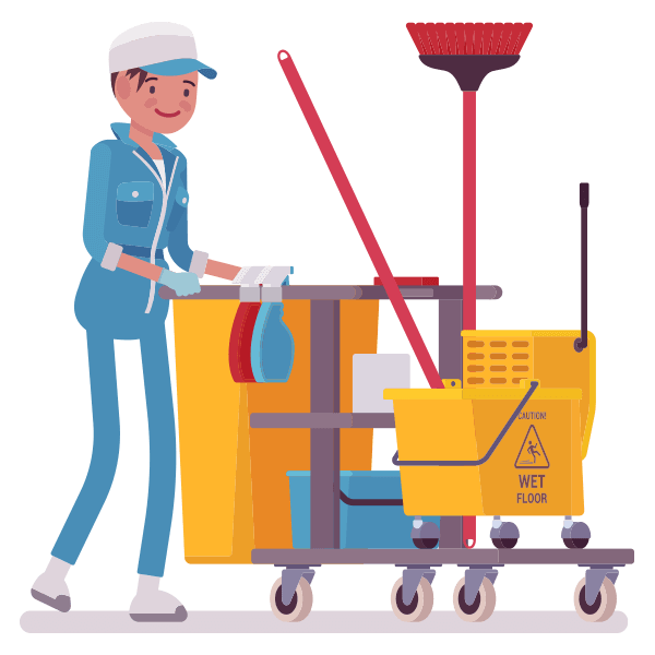 Products venus cleaning supplies. Maid clipart janitor