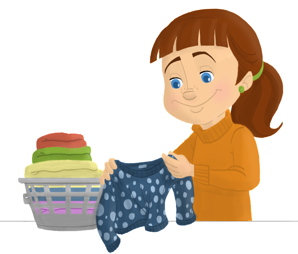 Folded laundry ero electronic. Closet clipart boys