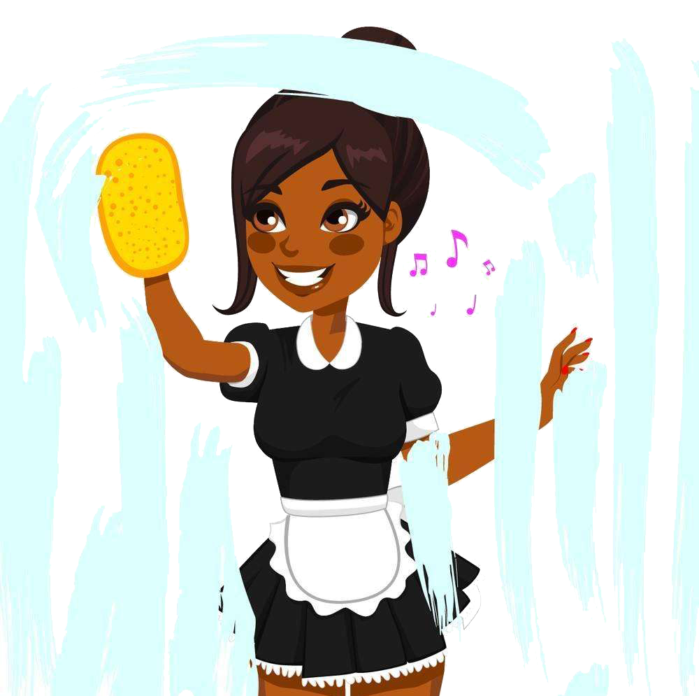 Clean clipart maid cleaning. Window cleaner african american