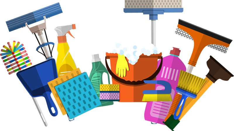 Hire a house cleaner. Clean clipart maid cleaning