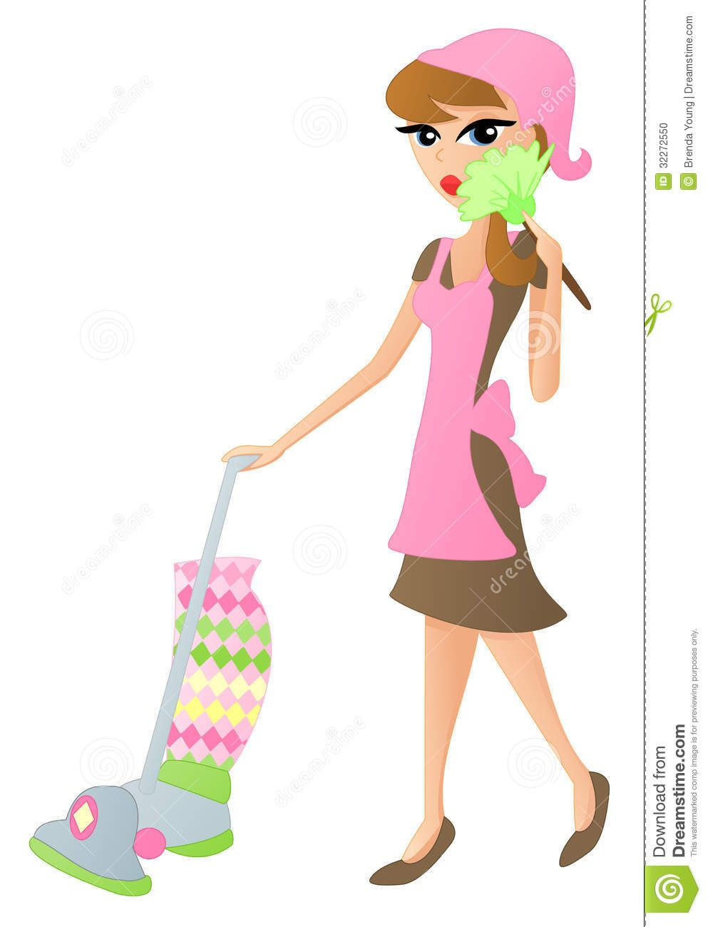 Maid clipart cleaning lady. Free download cartoon for