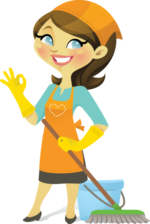 Maid clipart cleanliness. Cleaning lady pics group