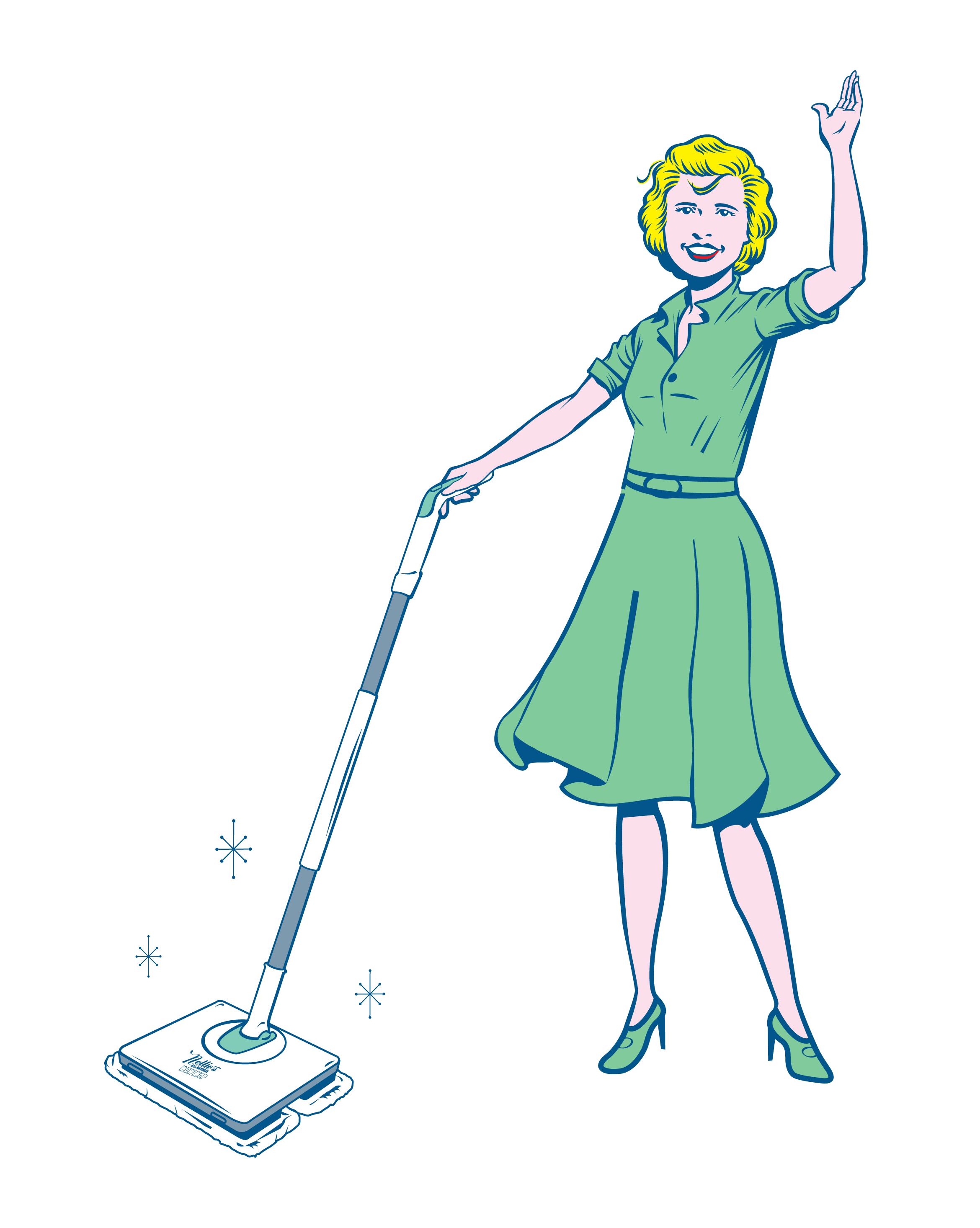 Wow nellie s . Clean clipart mop floor