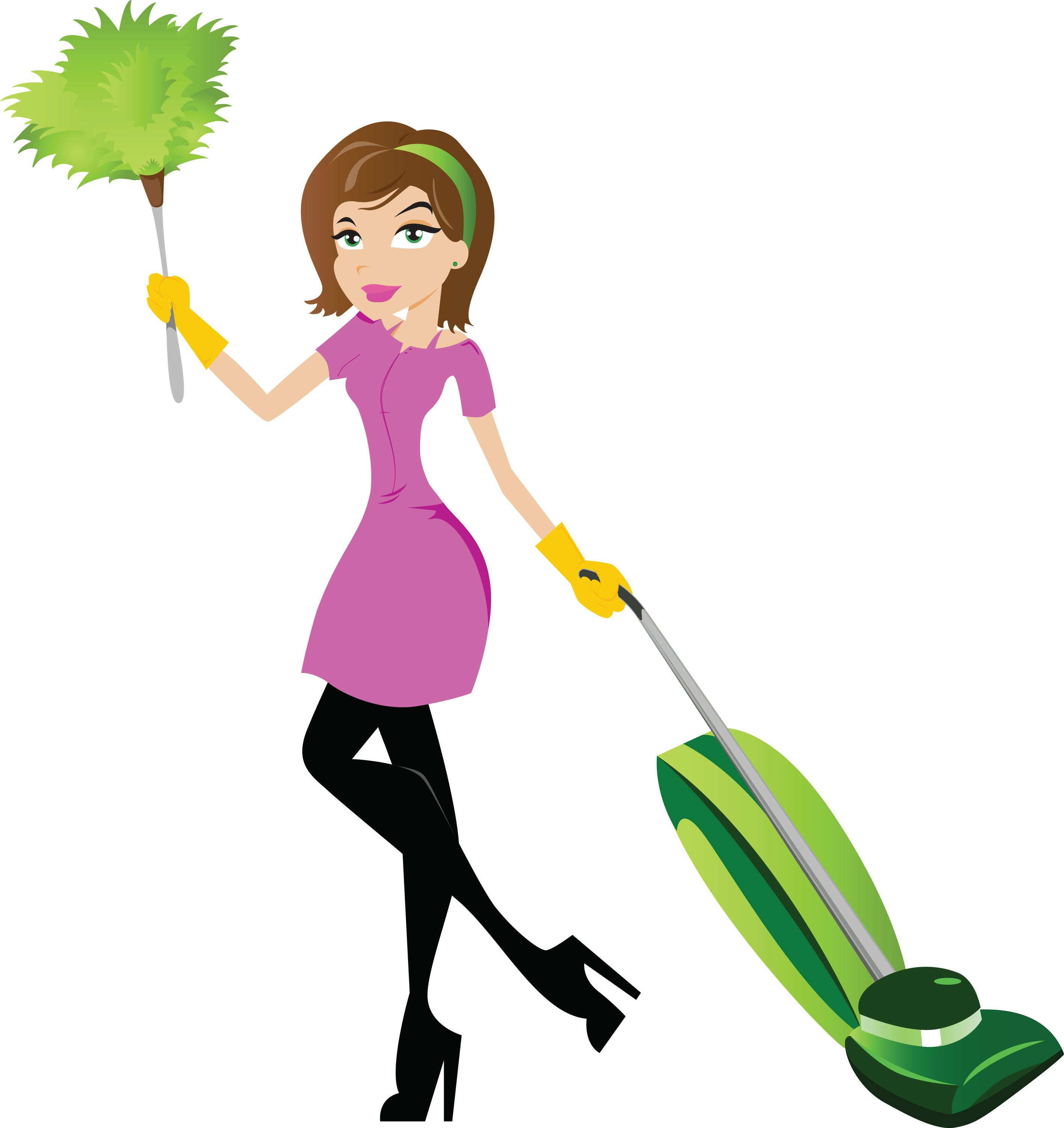 Cleaning panda free . Maid clipart mother
