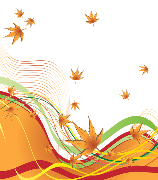 Autumn decorative border png. Clipart designs nature