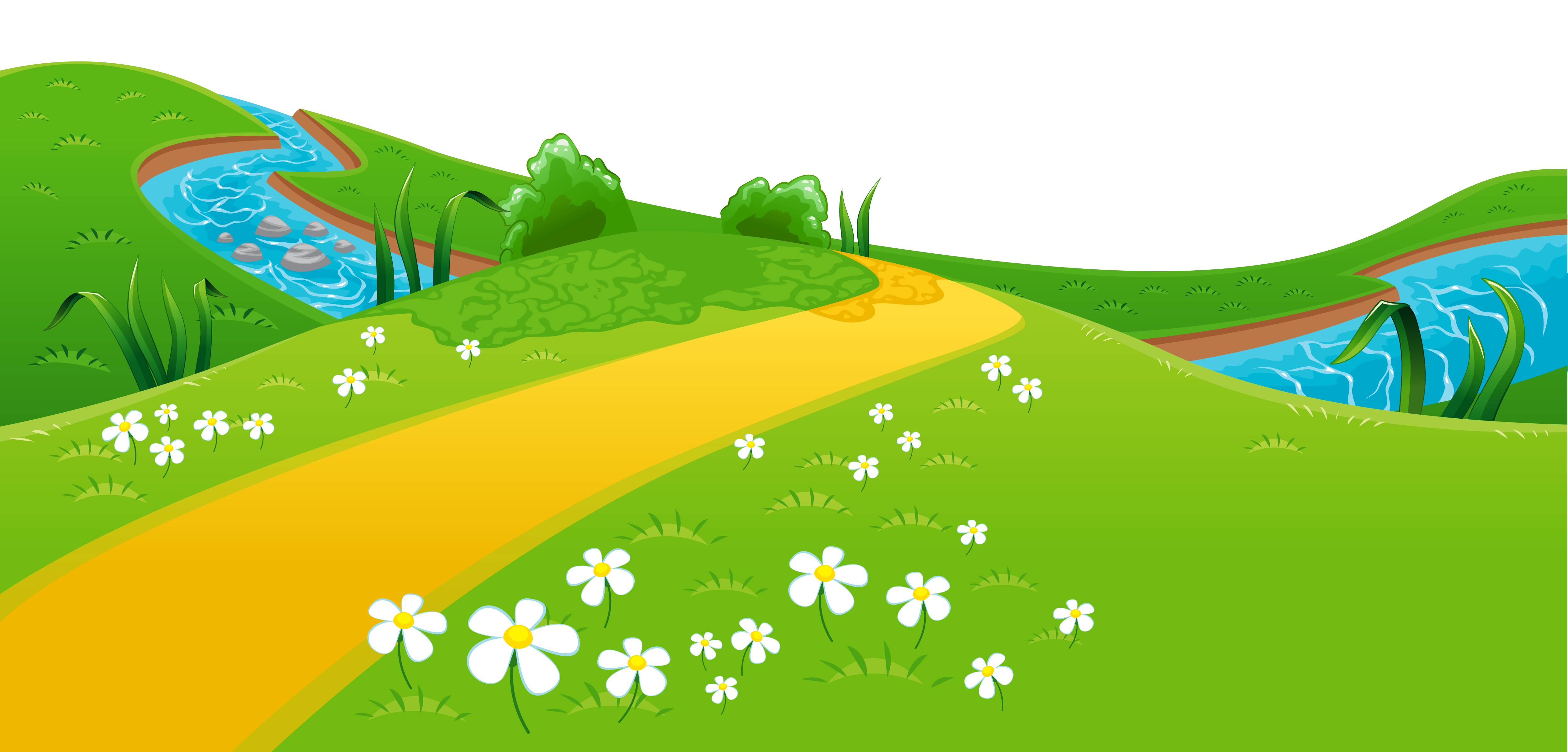 Meadow animated pencil and. Hills clipart hill scenery
