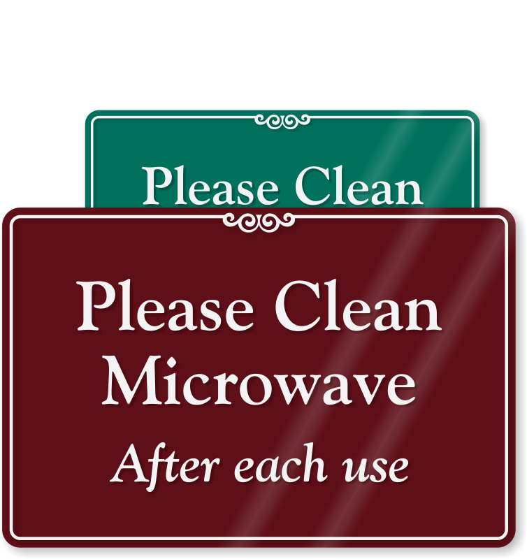 Dishwasher clipart kitchen dish. Signs keep clean courtesy