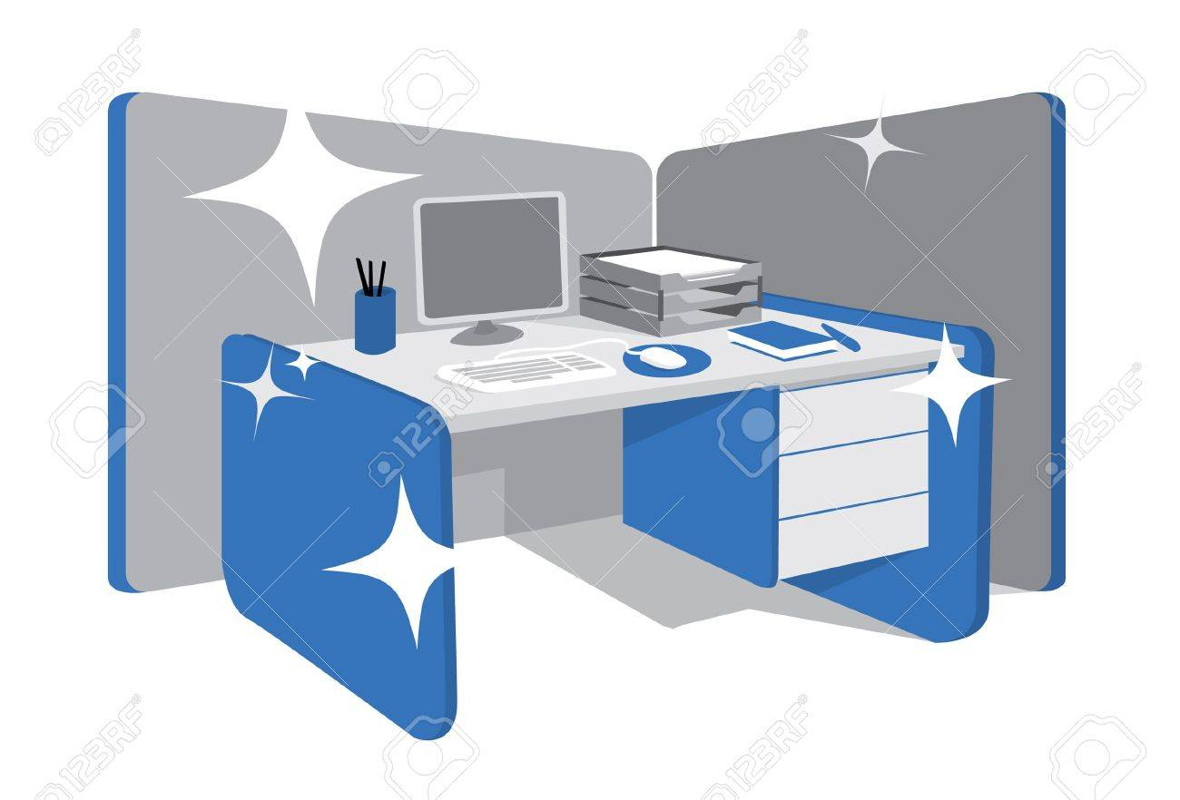 Cleaning clipart office. Clean desk portal