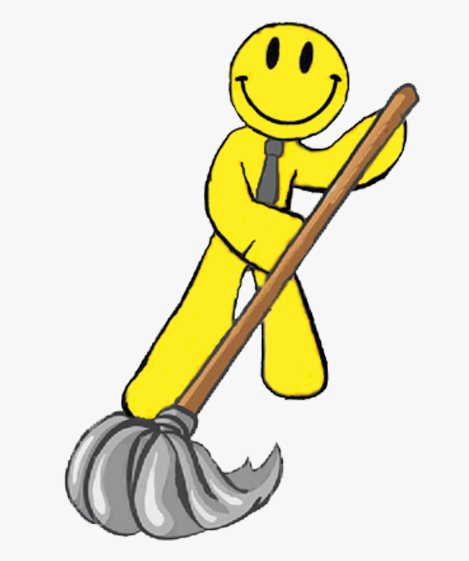 Man mopping floor . Clean clipart office