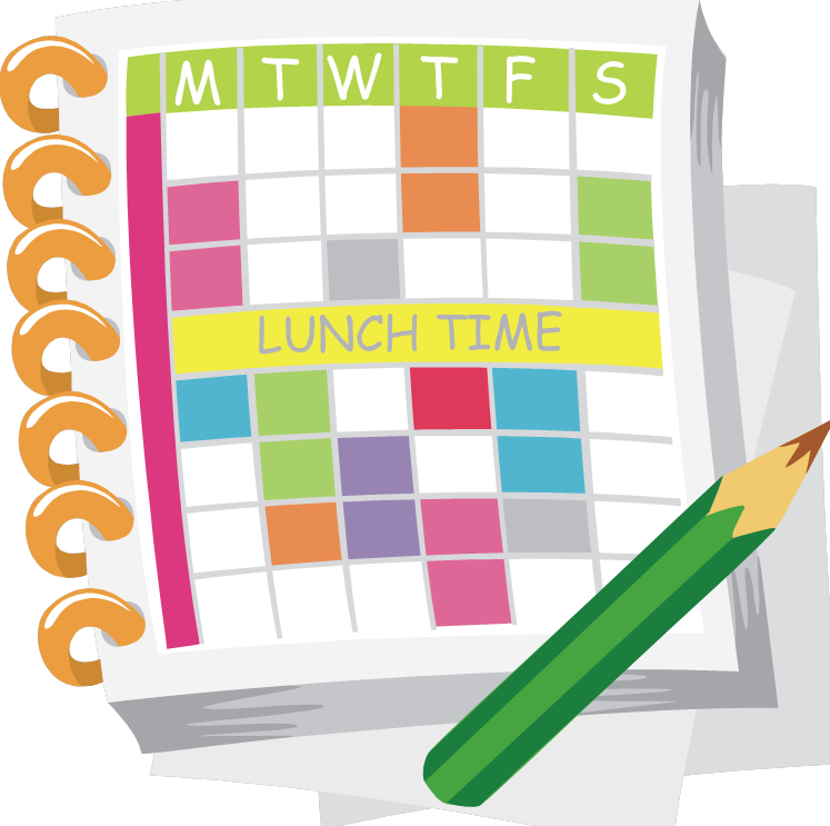 Autism how organizing can. Schedule clipart organized person