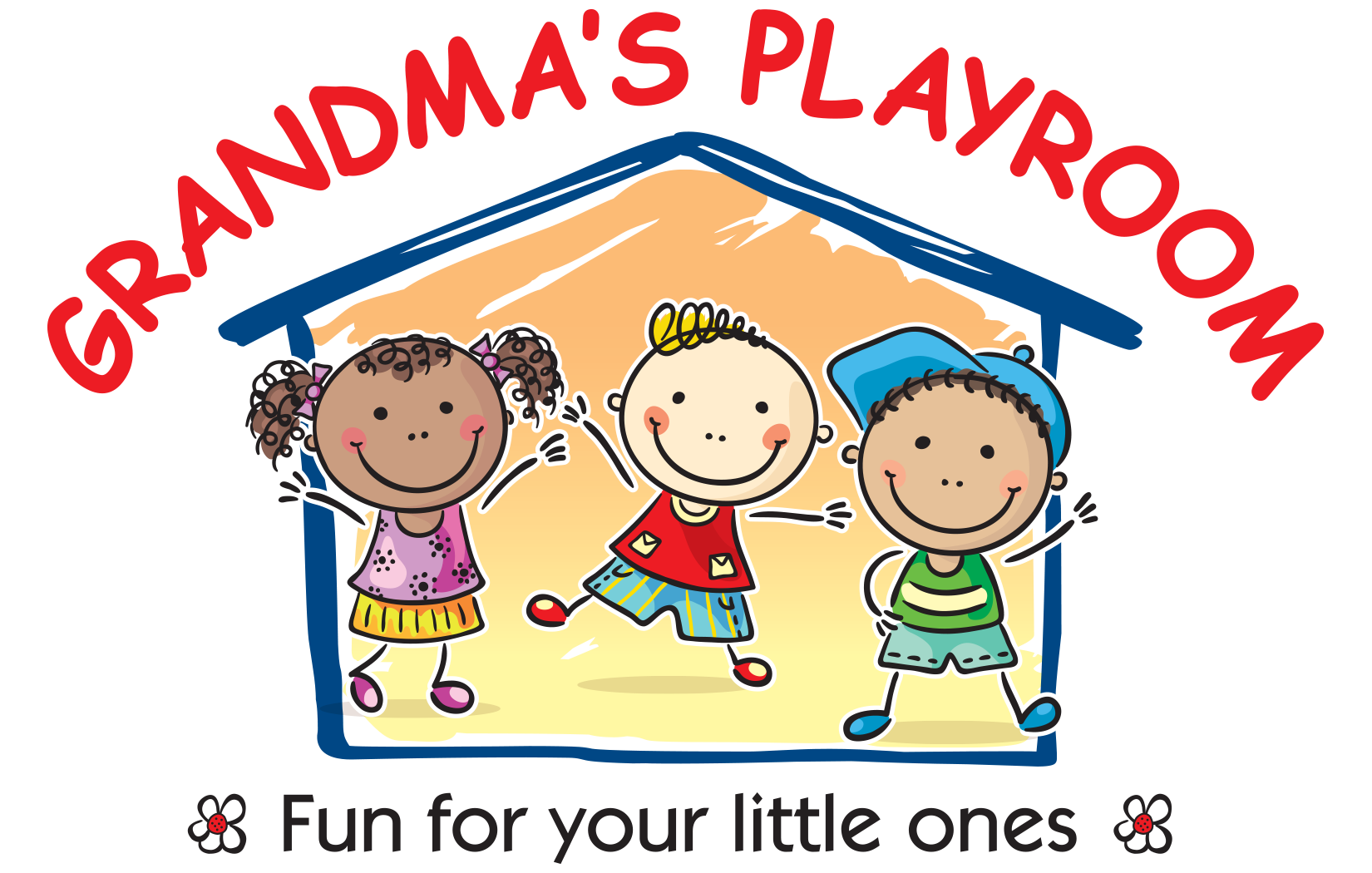 Home grandmas playroom . Excited clipart small kid