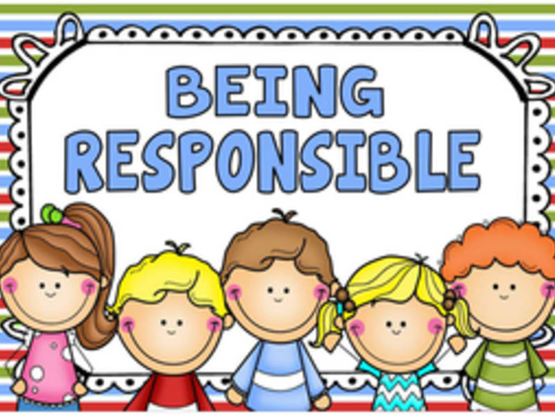 Teaching children and teens. Clean clipart responsible kid