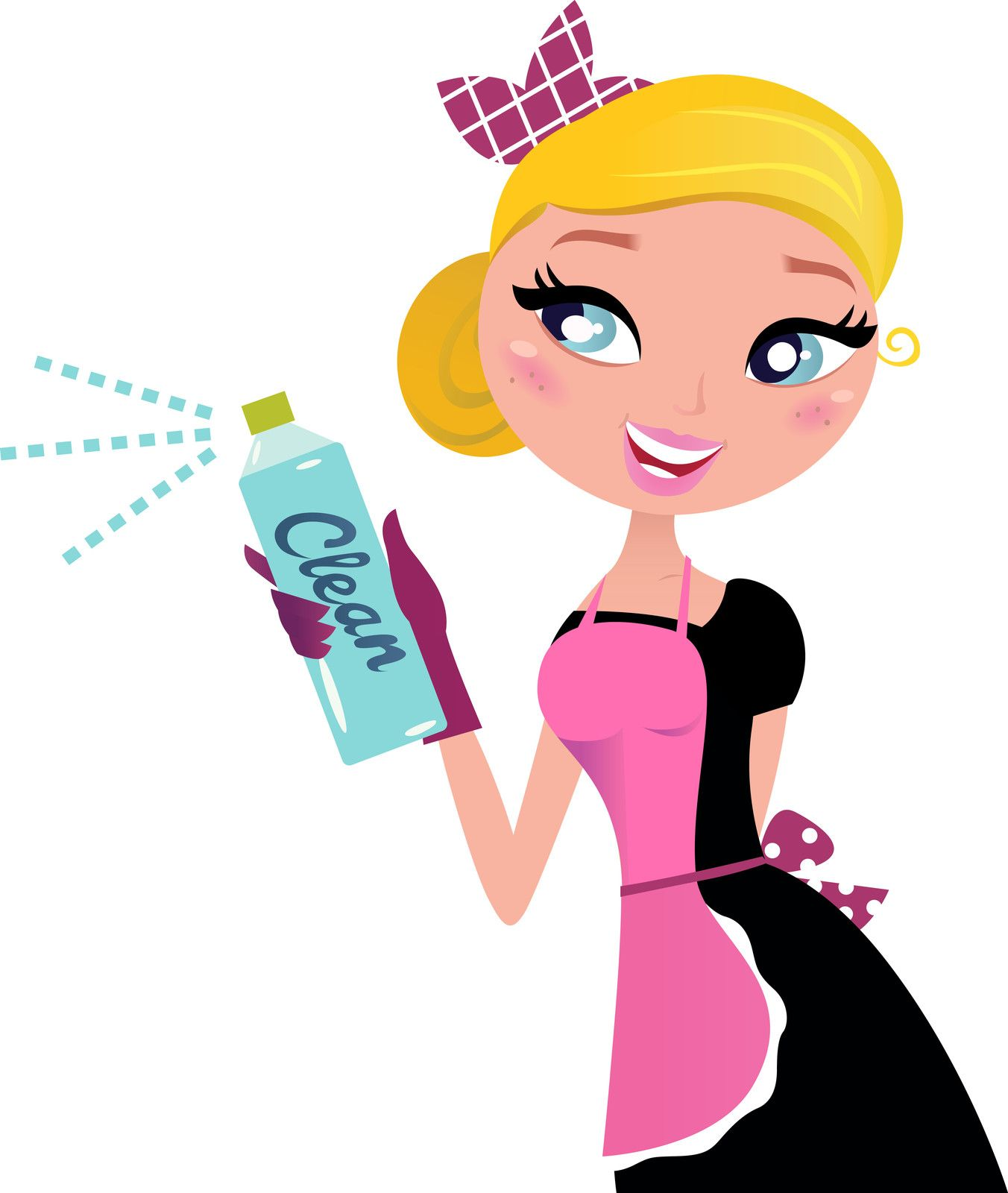 Maid clipart maid service. Pin on vision board