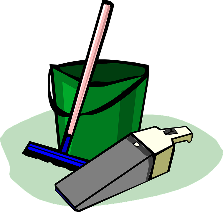 Advantages of using commercial. Clean clipart service staff