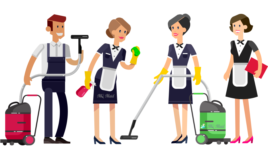 Clean clipart service staff. Mq maid domestic cleaning