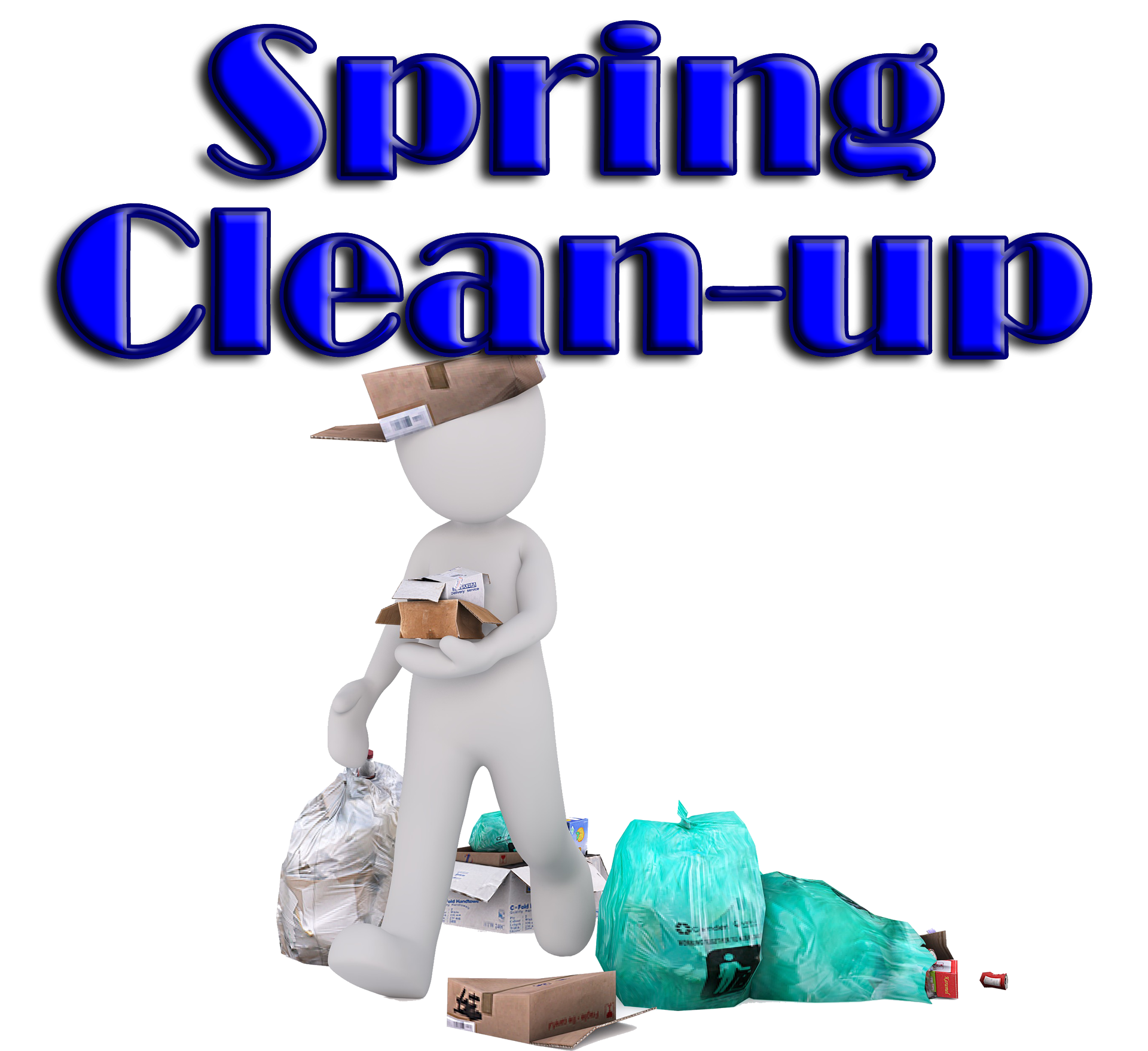 Clean up day white. Clipart thermometer spring
