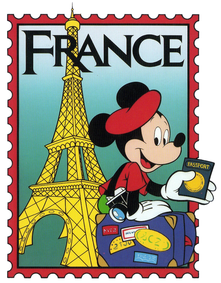 Epcot mickey france clip. Stamp clipart date stamp
