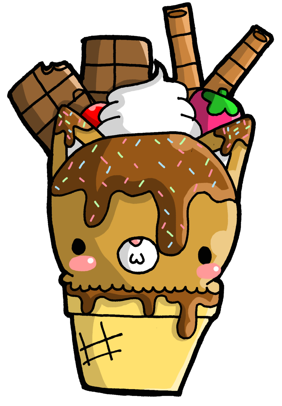 Foxy fudge ice cream. Plate clipart things