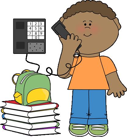 Clipart phone boy. Substitute student helper clip