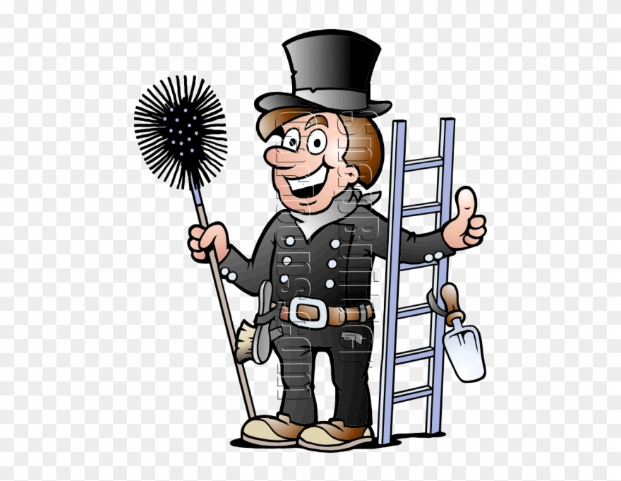 Cleaning clipart sweeper. Chimney with tools services