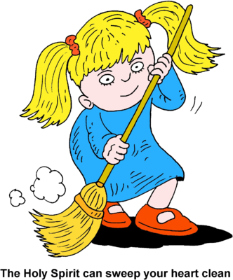 Cleaning clipart sweeping. Image girl the holy