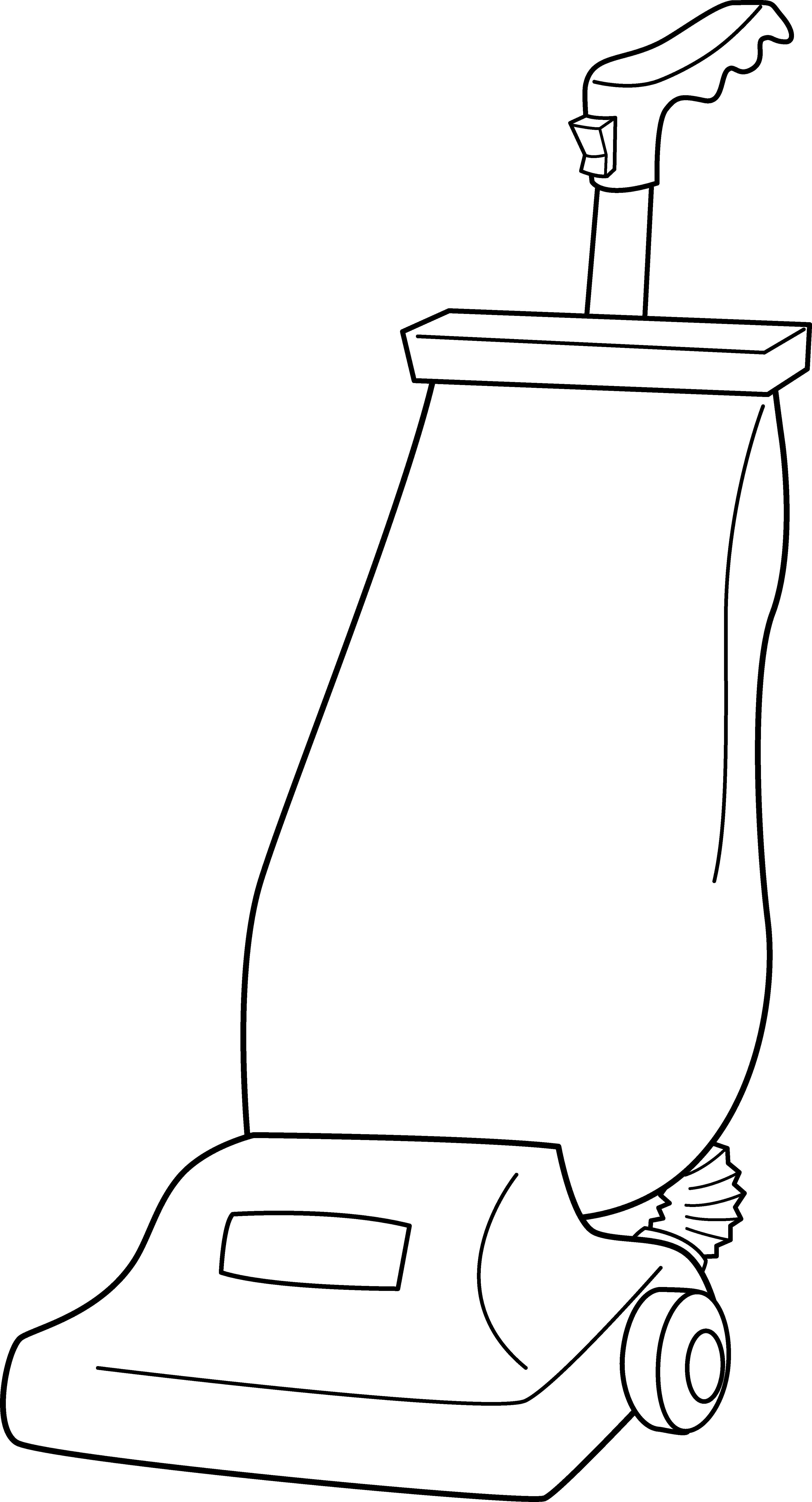 Vacuum cleaner line art. Cleaning clipart black and white