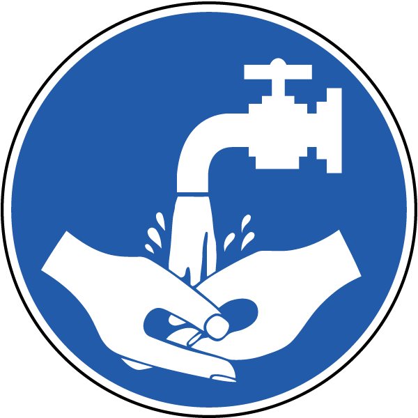 Wash your hands label. Hand clipart safety
