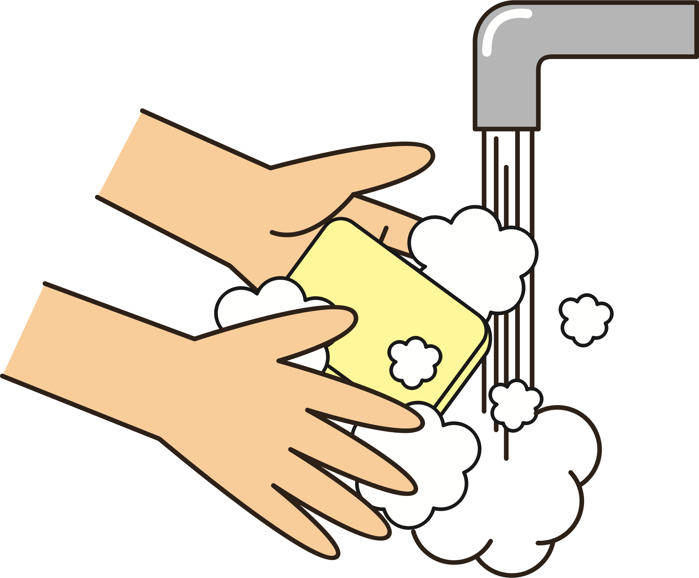 collection of wash. Water clipart soap