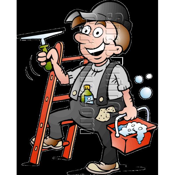 Tool clipart handy man. Window cleaner handyman with