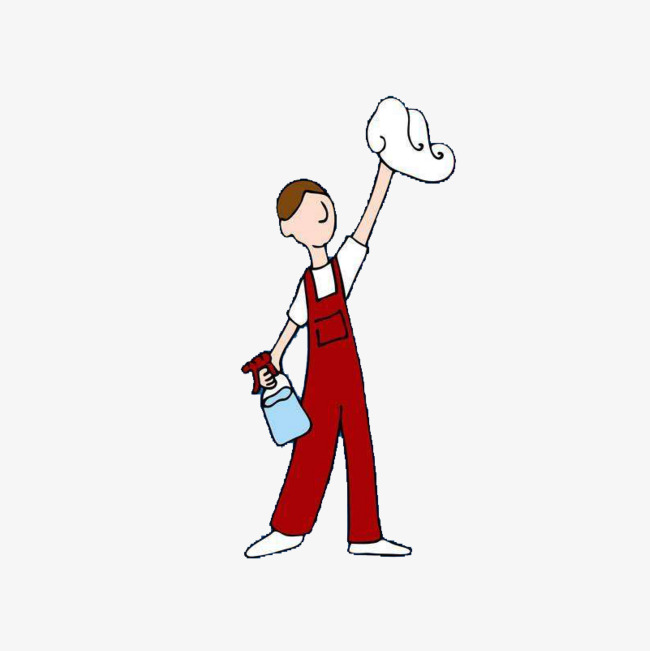 Clean clipart worker. Cleaning workers are doing